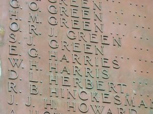Aberyswyth War Memorial - Captain Eric Guy Harries, 1/7 Bn Royal Welsh Fusiliers.