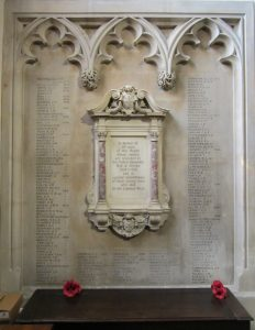 "University. College, Oxford War Memorial. Permission ""The Master and Fellows of University College, Oxford"""