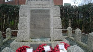 Llansantffraid War Memorial. (JW)